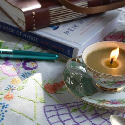 DIY Teacup Candles for Hygge Home Ambiance and Beautiful Gifts