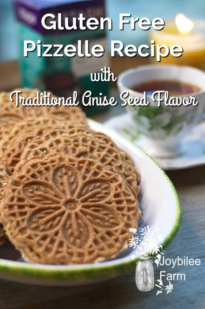 Gluten Free Pizzelle cookies and tea
