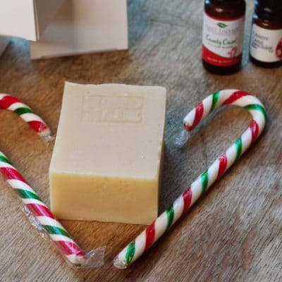 Candy Cane Soap Recipe with the Scent of Christmas Morning