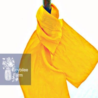 Dyeing with Turmeric on Silk for Healing Cloth
