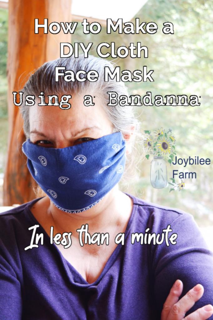 person wearing a bandana facial mask