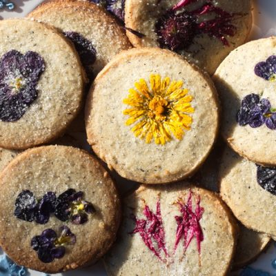 Edible Flower Cookies that are Gluten Free and Gorgeous