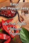 jalapeno peppers on a board by a bowl of hot pepper jelly