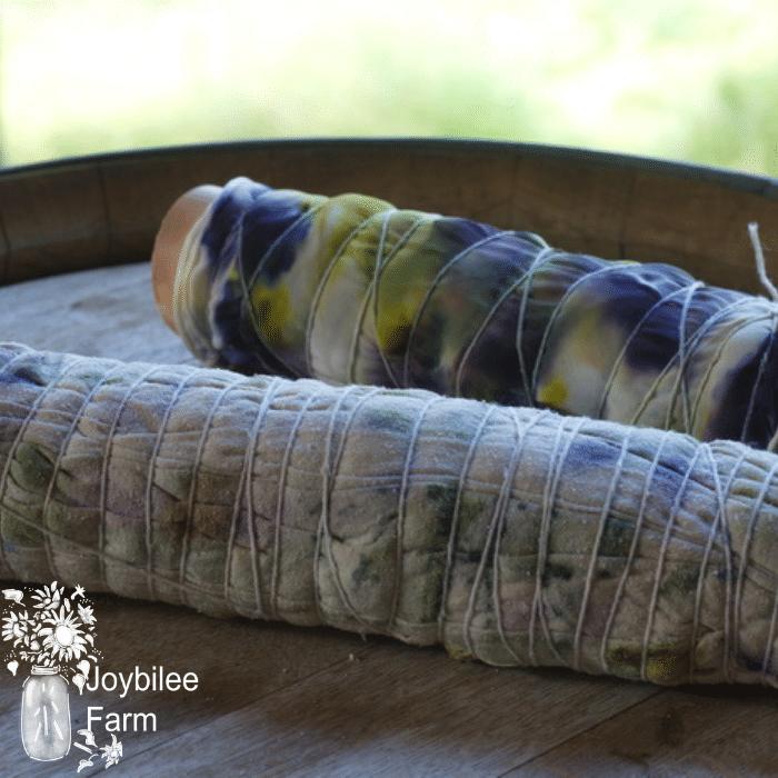 the rolled, leaf print baby blanket