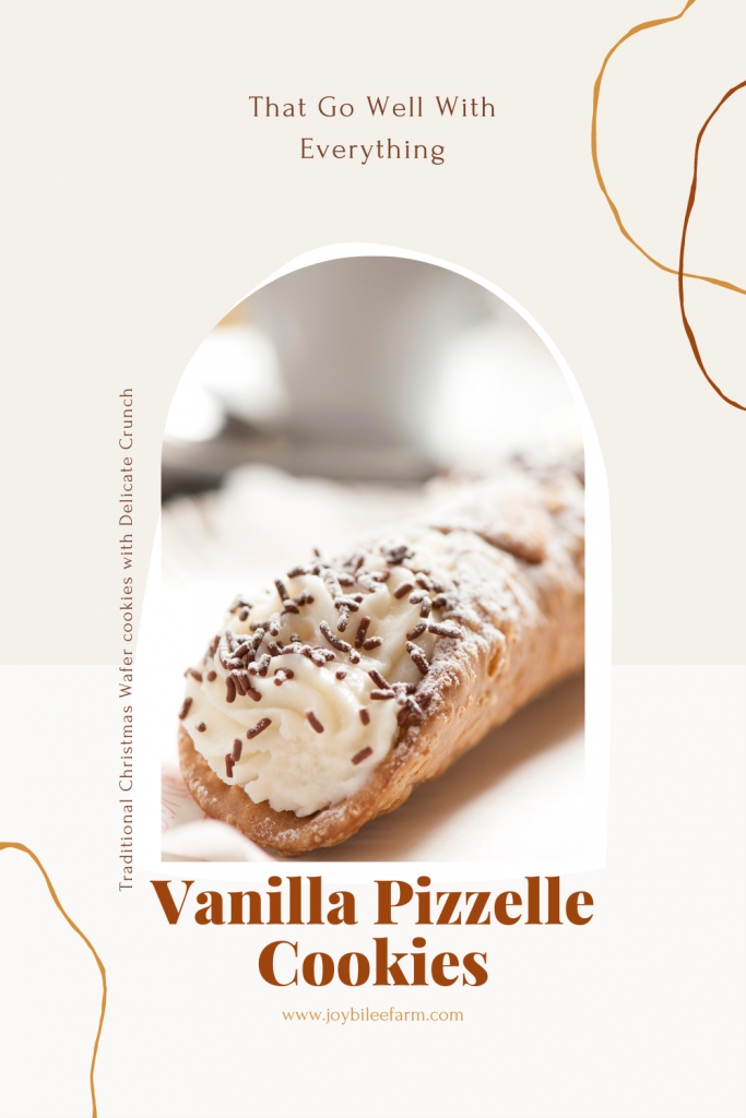 Cannoli filled with cream and chocolate sprinkles