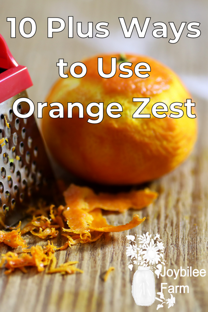 orange zest being made with a mini zest grater